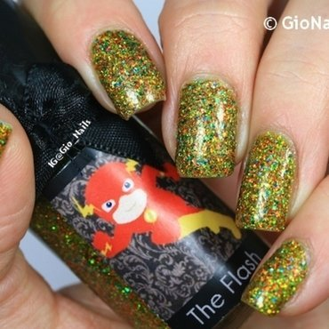 Esmaltes  Da Kelly The Flash Swatch by Giovanna - GioNails