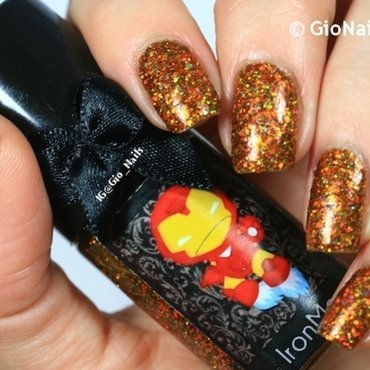 Esmaltes Da Kelly Iron Man Swatch by Giovanna - GioNails