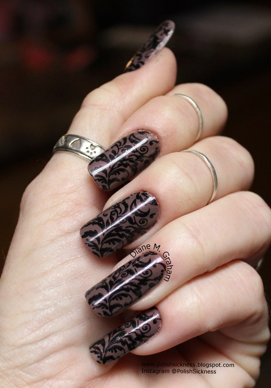 Brown and Black nail art by PolishSickness