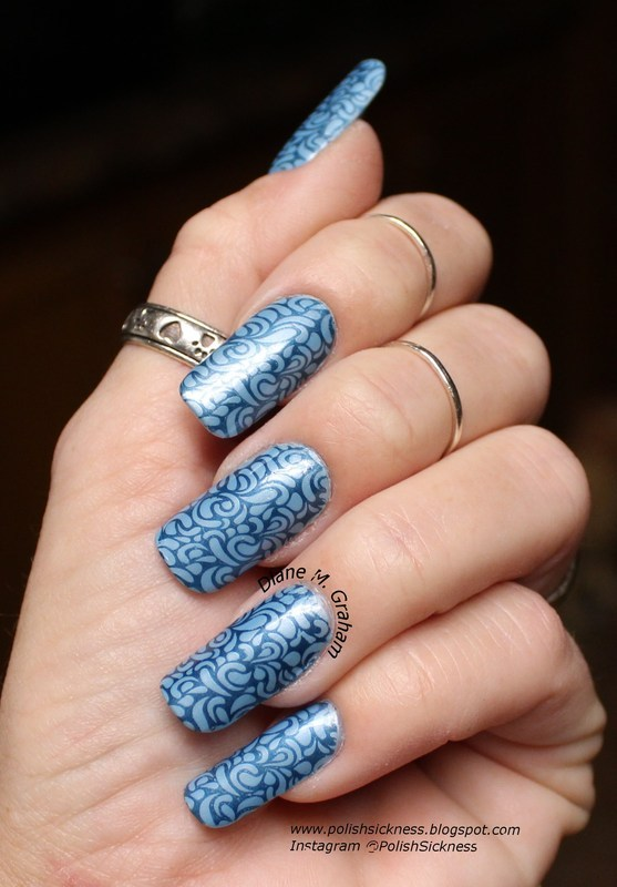 Blues nail art by PolishSickness