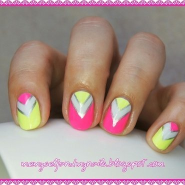 Neon power nail art by ELIZA OK-W