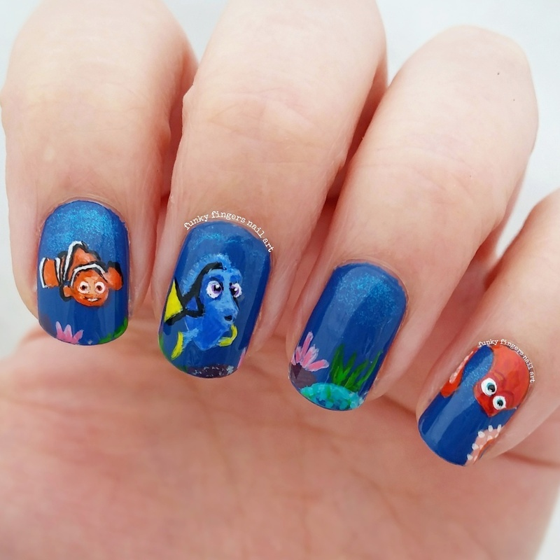 Finding dory nails nail art by funky fingers nail art nailpolis finding dory nails nail art by funky fingers nail art prinsesfo Gallery