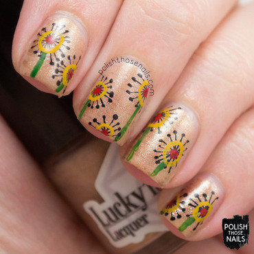 Whimsy quirkly floral nail art 4 thumb370f