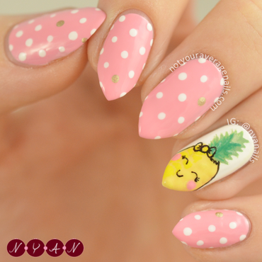 Pineapple Darling nail art by Becca (nyanails)