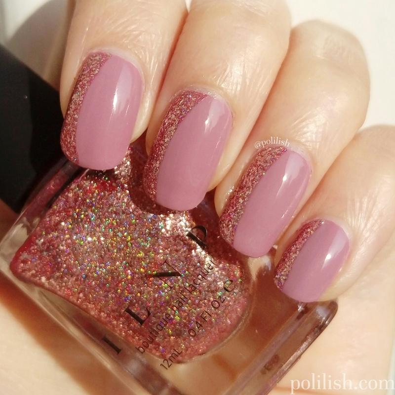 Sideways French tip nail art by polilish