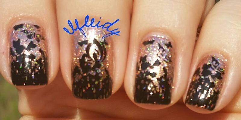 Butterflies nail art by Jenette Maitland-Tomblin