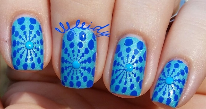Neon studs nail art by Jenette Maitland-Tomblin