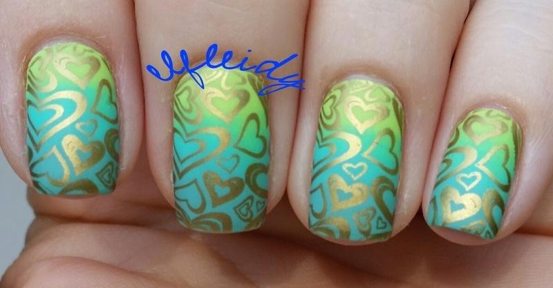 IGer inspired mani nail art by Jenette Maitland-Tomblin