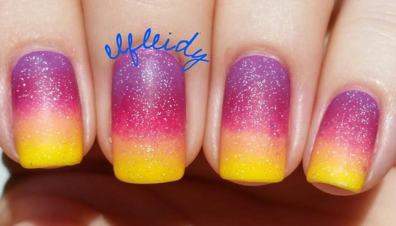 Sunset gradient nail art by Jenette Maitland-Tomblin