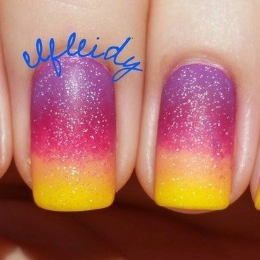 Sunset gradient nail art by Jenette Maitland-Tomblin