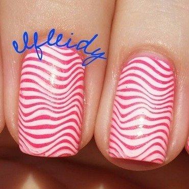 Wavy stripes nail art by Jenette Maitland-Tomblin