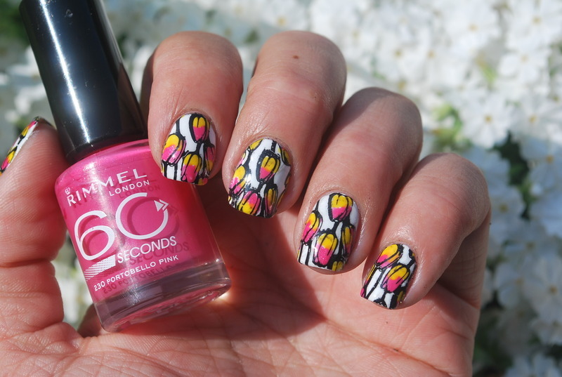 Tulips nails nail art by Hana K.