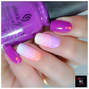 Gradient Neons nail art by Love Nails Etc