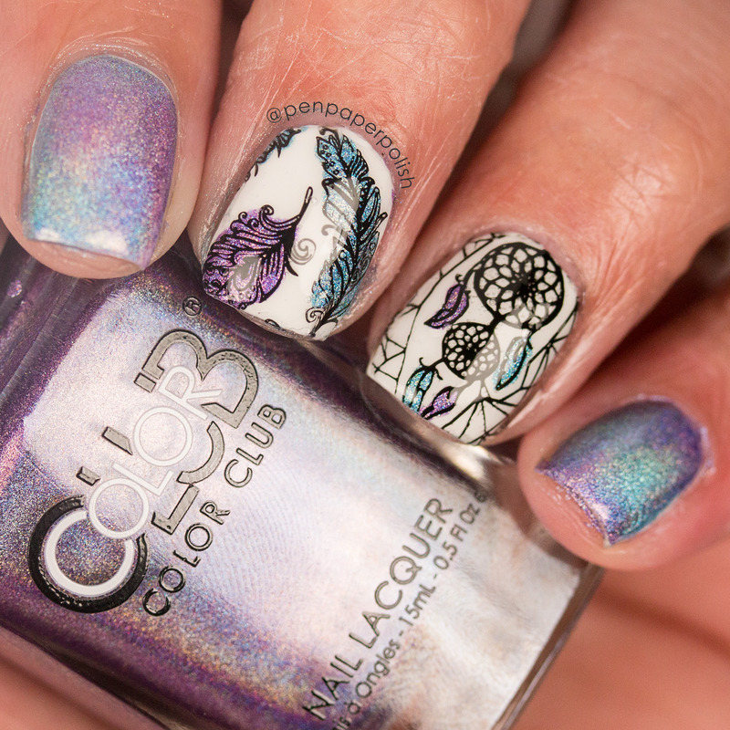 Dreamcatcher nails nail art by Misty
