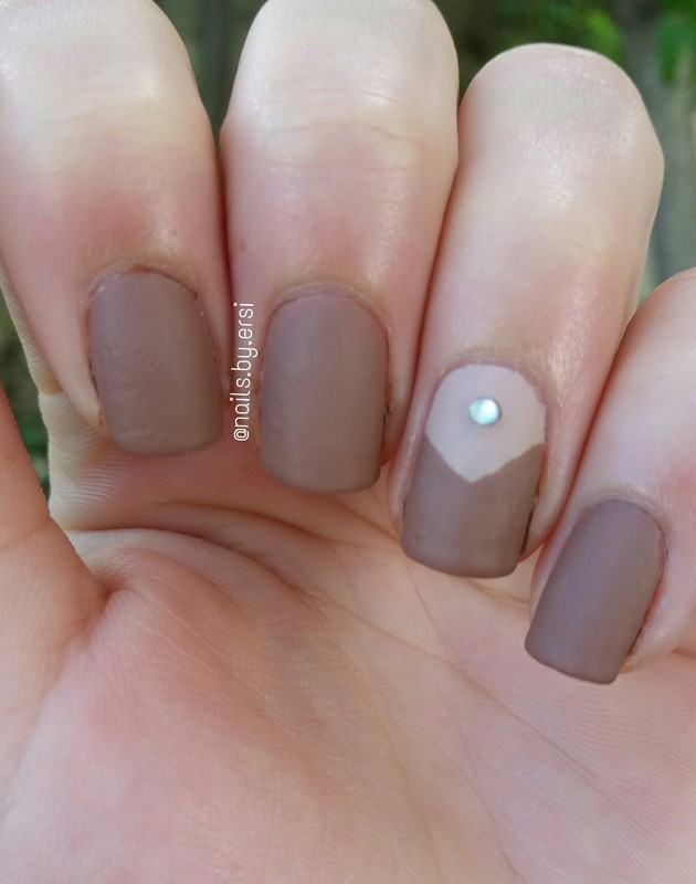 Matte Brown Nails nail art by NailsByErsi - Nailpolis: Museum of ...