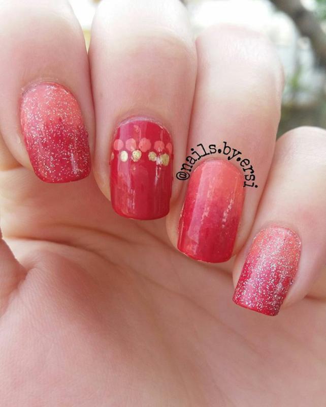 Glittery Gradient nail art by NailsByErsi