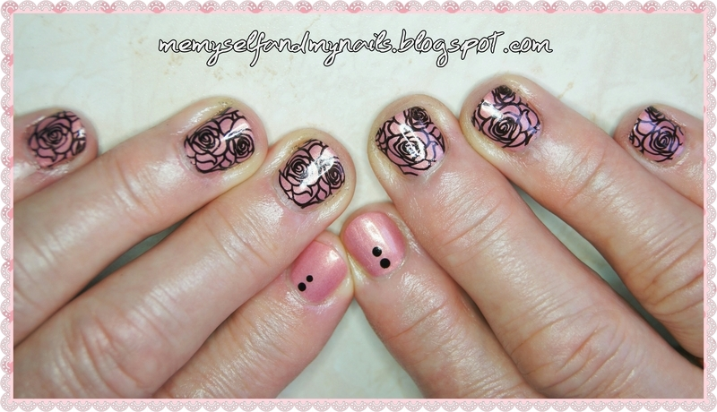 Cold roses nail art by ELIZA OK-W