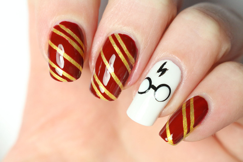 Harry Potter nail art nail art by Tribulons