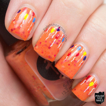 Orange glitter crelly balloon nail art 4 thumb370f