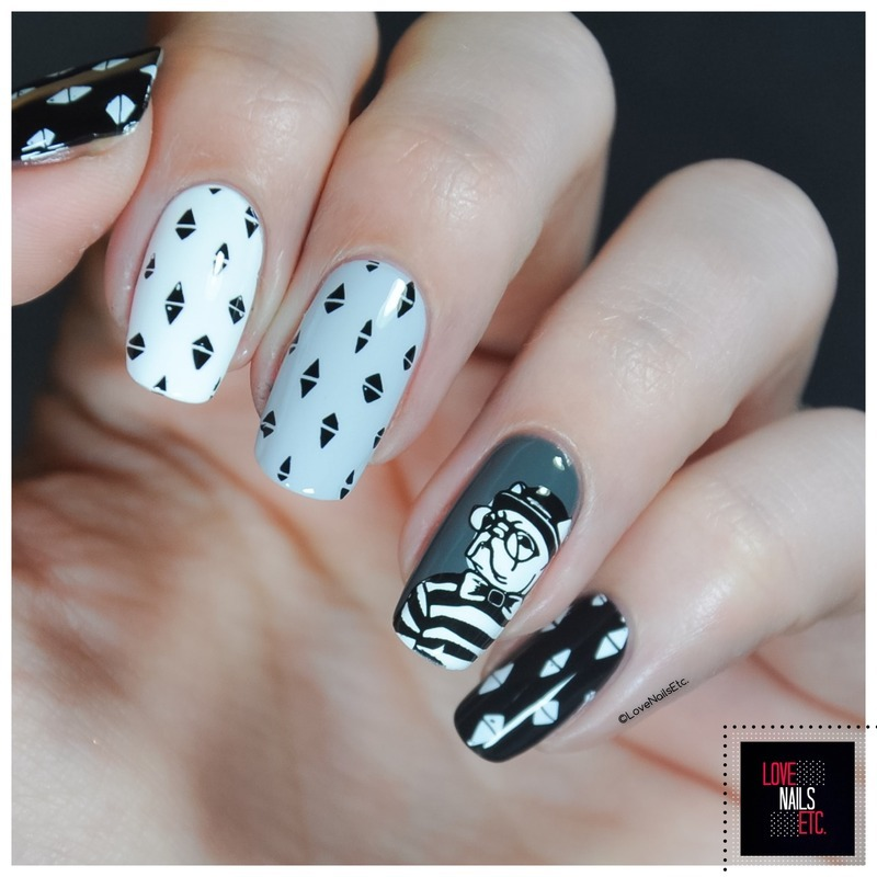 Hipster nail art by Love Nails Etc