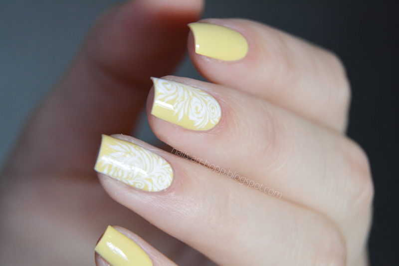 yellow sophin nail art by bopp