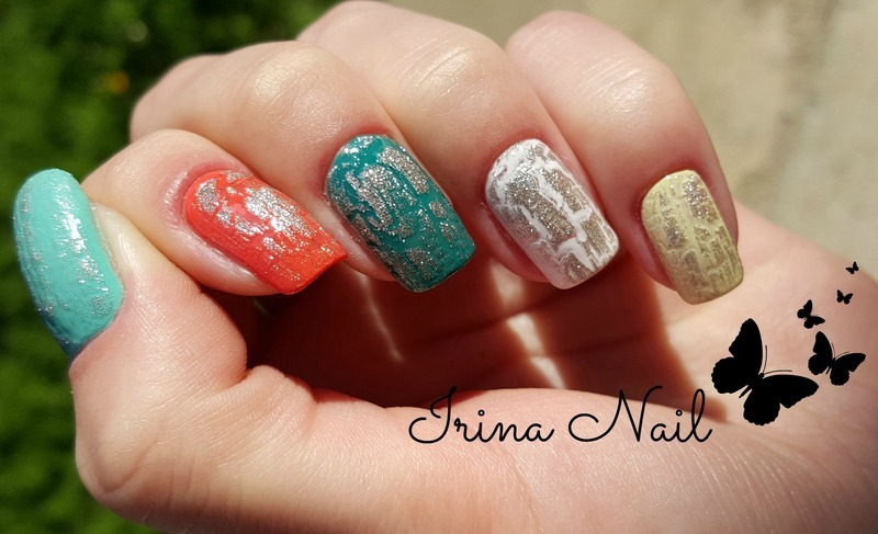 Spring colorful manicure nail art by Irina Nail