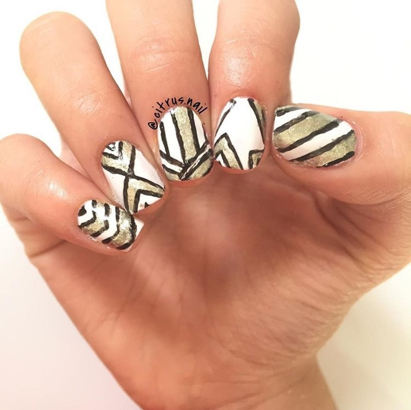 Geometric Nails nail art by Michelle Nguyen