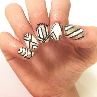 Geometric Nails nail art by Michelle Nguyen