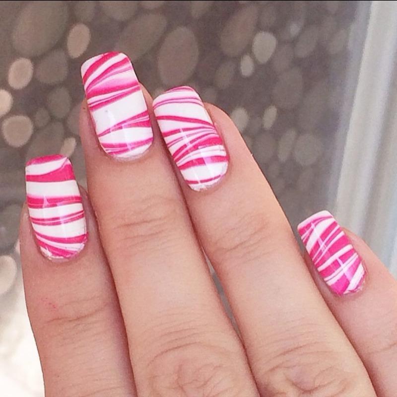 Watermarble  nail art by Virginia