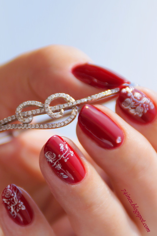 Lady in Red nail art by 74ines