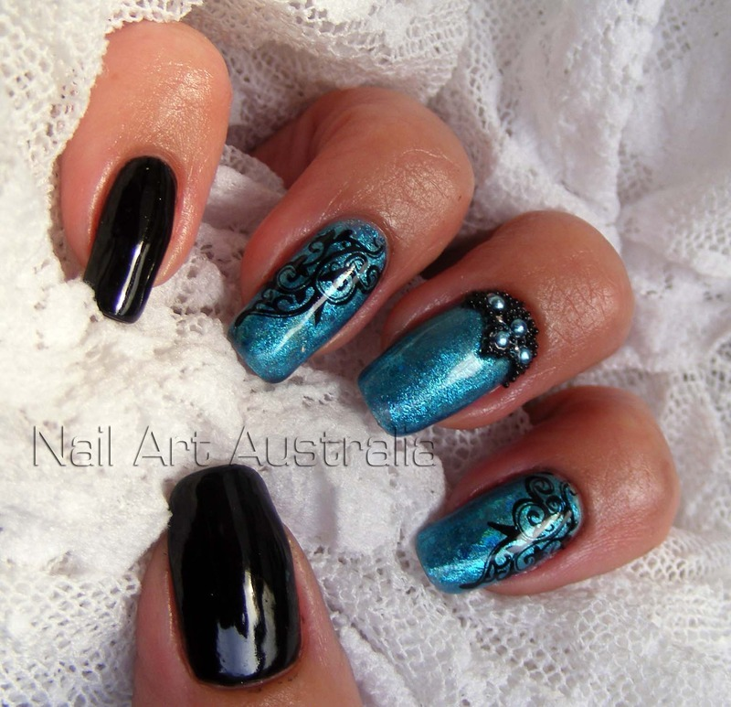 Winter is Coming nail art by Julie Keeble