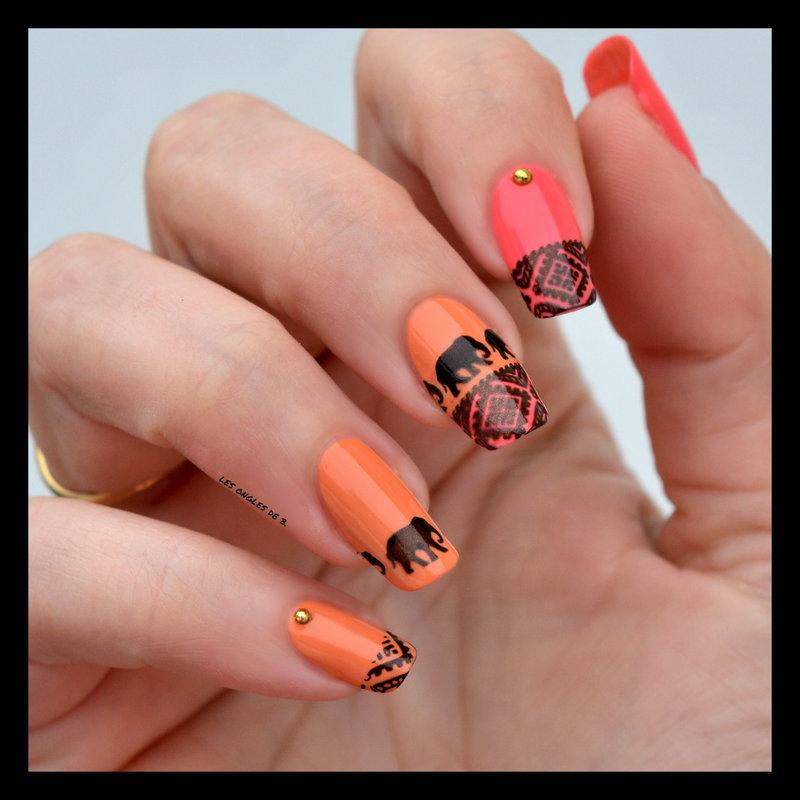 Savane nail art by Les ongles de B.