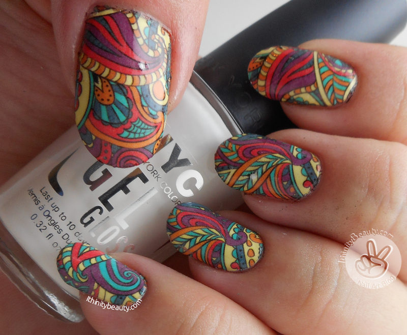 Nicole Diary Water Decals nail art by Ithfifi Williams