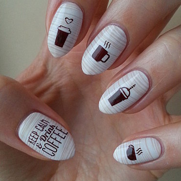 Coffee Addict Manicure - Part 4 nail art by Mgielka M