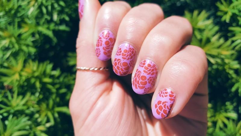A Purple and Orange Pairing nail art by Alisha Worth