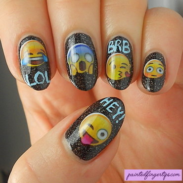 Nail decals emoticons nicole diary thumb370f