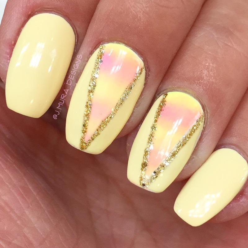 Sunny Days nail art by JMura_Designs