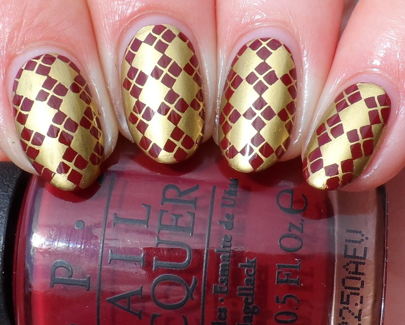 Gryffindor nail art by Plenty of Colors