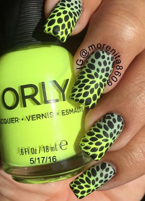 Neon Nails  nail art by Morenita  Morena
