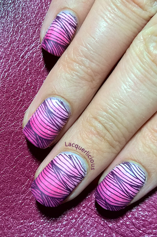 Fine Lines (Matte Pink Gradient Nails) nail art by Lacquerlicious