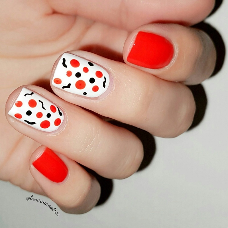 Dotticure with a twist nail art by Lunaaaaaatica