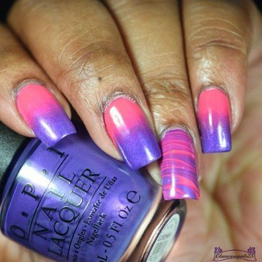 When Colors Collide: Purple & Pink nail art by glamorousnails23