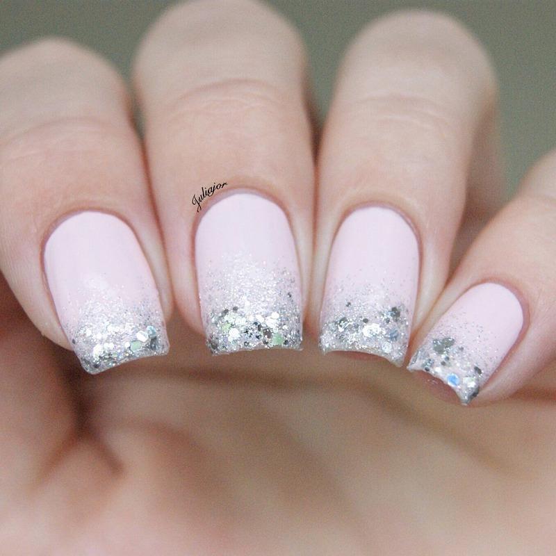 Pink ang glitter nails nail art by Juliajor
