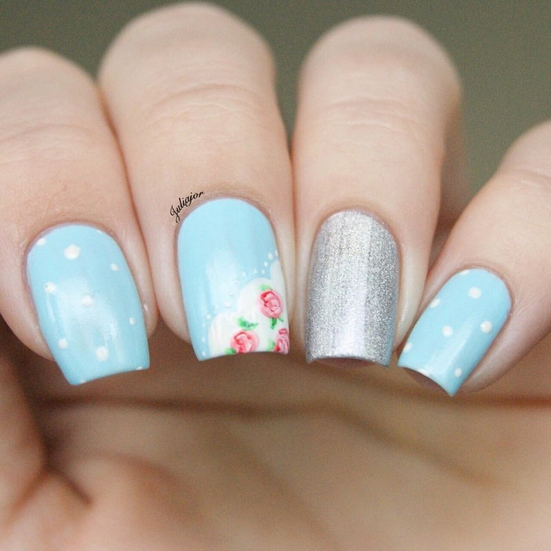Cath Kidston nails nail art by Juliajor