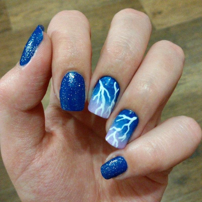 Lightning nail art nail art by Kristina