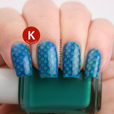 Mermaid scales nail art by Claire Kerr