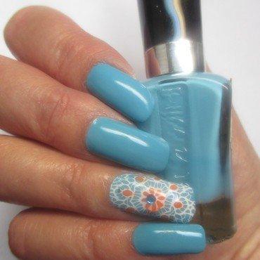 Blazed Refresh-Mint nail art by NinaB