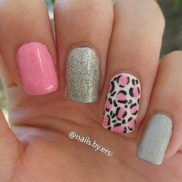 Pink Leopard Nails nail art by NailsByErsi