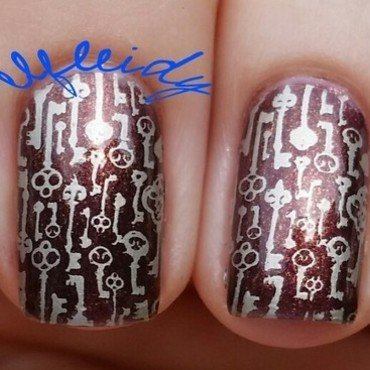 Antique keys nail art by Jenette Maitland-Tomblin