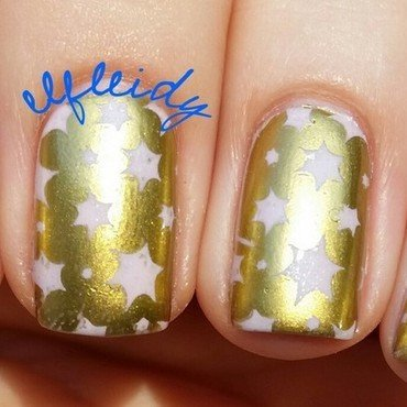 Pink stars nail art by Jenette Maitland-Tomblin